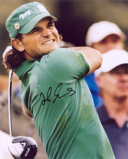 Johan Edfors, Swedish golfer, signed 10x8 inch photo. (2)